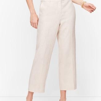 Talbots Linen Straight Leg Crop Pants - Curvy Fit