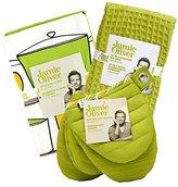 Jamie Oliver JO6PC01 6 piece Tea Towel/Bar Mop/Mini Mitt Kitchen Set, Green