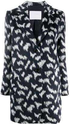 HUGO BOSS Abstract Print Single-Breasted Coat