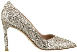 Stuart Weitzman Anny Pointed-Toe Glitter Pumps