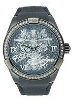 Christian Audigier Unisex INT-311 Intensity Midnight Blossom Ion-Plating Black Watch