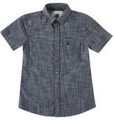 Soul Cal SoulCal Kids Short Sleeve Denim Shirt Junior Boys Chest Pocket Fold Over Collar
