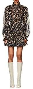 Ulla Johnson Women's Vienne Silk-Blend Fil Coupé Dress - Navy