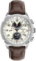 Seiko Men's Solar Chronograph Prospex Brown Leather Strap Watch 42mm SSC509