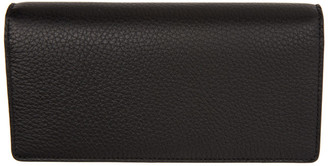 Maison Margiela Black Leather Bifold Travel Wallet