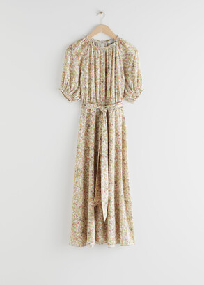 And other stories Belted Raglan Sleeve Maxi Dress