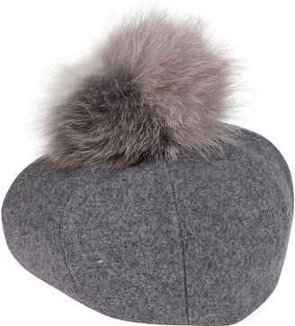CA4LA Grey Wool Blend Hat