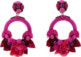 Ranjana Khan Pink Flower Earrings