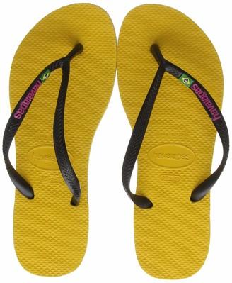Havaianas Women's Slim Brasil Logo Flip Flops 3/4 UK (35/36 EU)