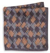 Z Zegna Geometric Silk Pocket Square