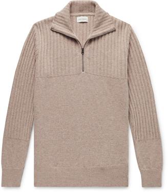 Oliver Spencer Ribbed Wool Half-Zip Sweater