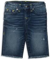 True Religion Boys' Lightly Distressed Denim Shorts - Big Kid