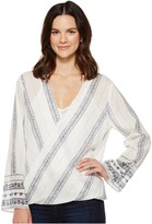 Dylan by True Grit - French Market Wrap Blouse Women's Long Sleeve Pullover