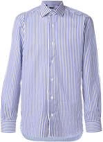 Barba striped long-sleeved shirt