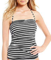 Tommy Bahama Brenton Stripes Shirred Tummy Control Bandini