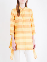 Max Mara Tay striped cotton and silk-blend shirt