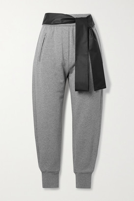 3.1 Phillip Lim Satin-trimmed Cotton-jersey Track Pants - Gray