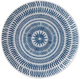 ED Ellen Degeneres Crafted by Royal Doulton Cobalt Blue Chevron Side Plate