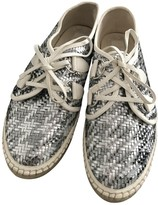 Christian Dior Silver Leather Lace ups