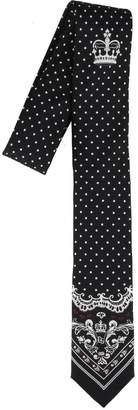 Dolce & Gabbana Logo Print Tie
