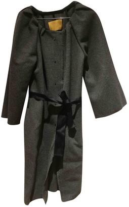 Lanvin Anthracite Cashmere Coat for Women