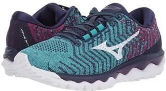 Mizuno Wave Sky WAVEKNITtm 3 (Ceramic/White) Women's Running Shoes