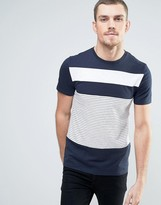Celio T-Shirt with Mixed Stripes