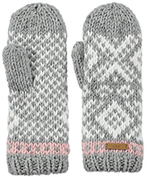 Barts Log Cabin Mittens, One Size, Grey