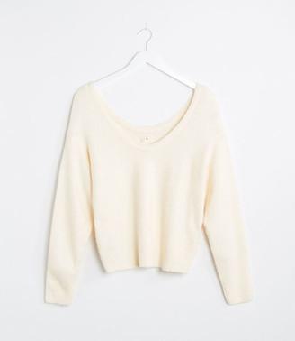 LOFT Lou & Grey Double Scoop Sweater