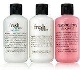 philosophy Fresh Cream Shampoo, Shower Gel & Bubble Bath Trio