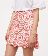 LOFT Eyelet Medallion Skirt