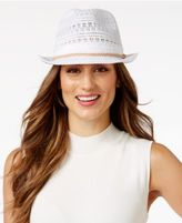 INC International Concepts Crochet Packable Fedora, Only at Macy's