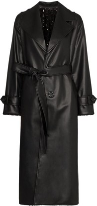 Anouki reversible sequinned trench coat