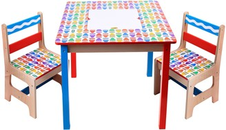 Grown Up Crayola Wooden Table & Chairs Set