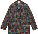 Gucci GG Psychedelic print silk shirt