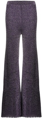 M Missoni Wide-Leg Knit Trousers