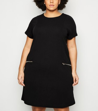 New Look Mela Curves 2 Zip Shift Dress