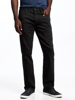 Old Navy Built-In Flex Max Straight Black Jeans for Men