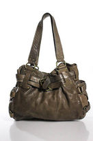 Kooba Brown Leather Hobo Shoulder Handbag Size Medium