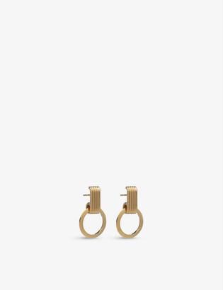 Rachel Jackson Eternity Circle 22ct gold-plated sterling silver hoop earrings