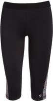 Soffe Black Panel Dri Knicker Low-Rise Leggings