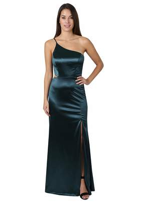 Jump Junior's One Shoulder Satin Gown