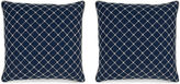 Miles Talbott Collection S/2 Elaine 19.5x19.5 Pillows, Navy