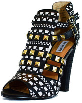 Not Rated Black Studded Sandal