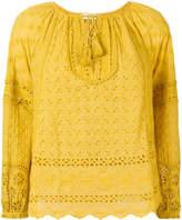 Ulla Johnson floral eyelet boxy blouse