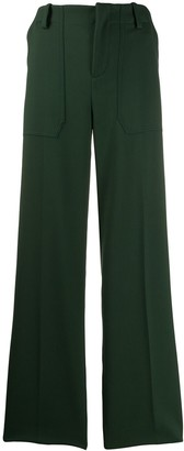 Plan C Wide Leg Tailored Trousers