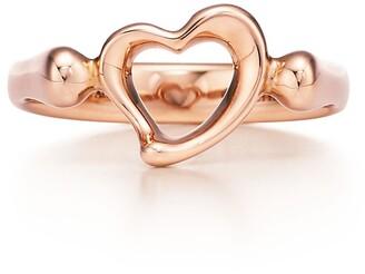 Tiffany & Co. Elsa Peretti Open Heart ring in 18k rose gold, mini