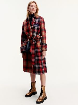 Tommy Hilfiger Tommy Icons Checked Oversized Wool Cashmere Mac