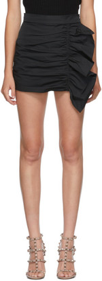 RED Valentino Black Taffeta Skort