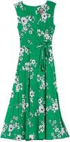 Vince Camuto Printed Faux Wrap Midi Dress